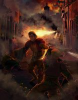Fire in the streets by Feael