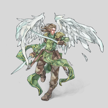 Commission: Icarus Callatuil by JomanMercado