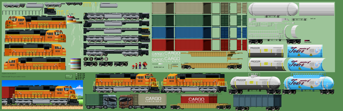 Modern (maybe) Freight train by jebo14