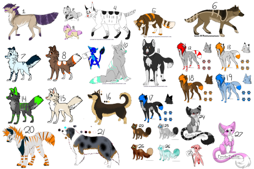 HUGE leftover adoptable batch! (ALL OPEN) by Padded-Paws