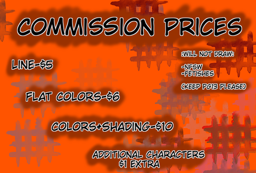 Commissions Chart by Krazy-dog