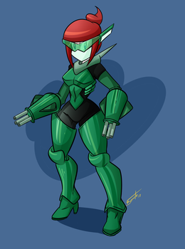 Commission - Android Girl Armor by FBende