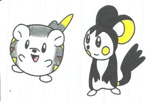 Togedemaru and Emolga