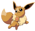 Eevee pixel over by Fade-Away-Requiem