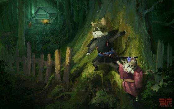 Deep in the forest by FJFT-Art
