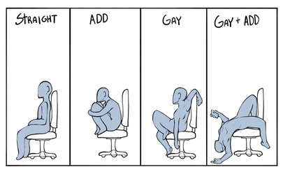 How do YOU sit in your chair? by RenrookART