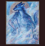 On the Spot Speed Painting - Savage blue wolf by NerezaWorks