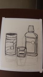 Peanut Butter, Floss, and Mouthwash: Charcoal by CleoArrow