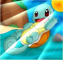 Squirtle Goes To The Beach
