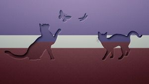 Cats and Butterflies by JackieCrossley