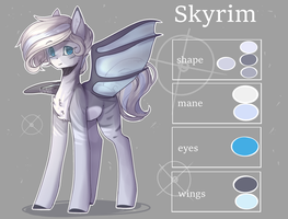 'Skyrim' color guide (commission) by xValeox