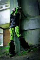 Toxicgreen cybergoth by mysteria-violent
