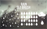 Brush Set #3 - rain by Takeshi1995