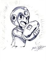 Megaman by Mark-Clark-II