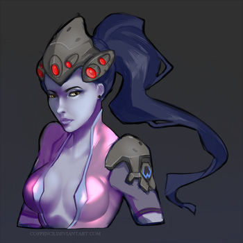 Widowmaker doodle by Coffence