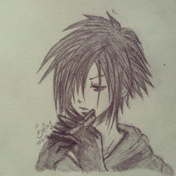 Old Zexion-drawing by Fantasygames13