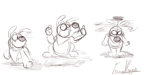 Buster Doodles 5/7/17 by FezzedPenguin