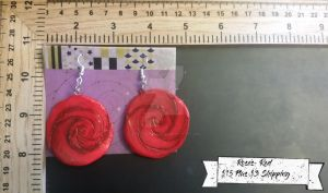 Roses Red Earrings by TheTrueGypsyQueen