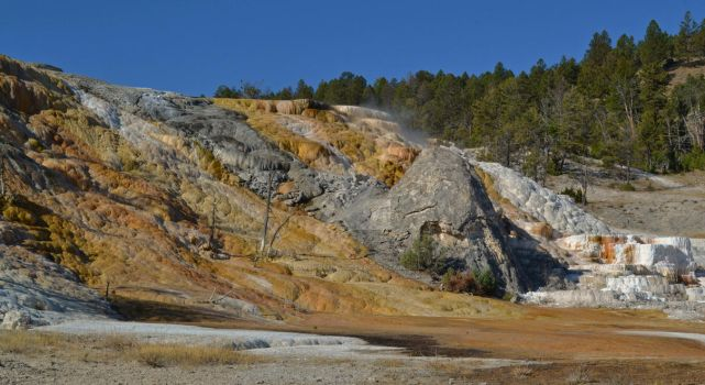 Mammoth Hot Springs Formation - Yellowstone by ChaosWolfPictures