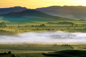 Misty Morning in Tuscany by CitizenFresh