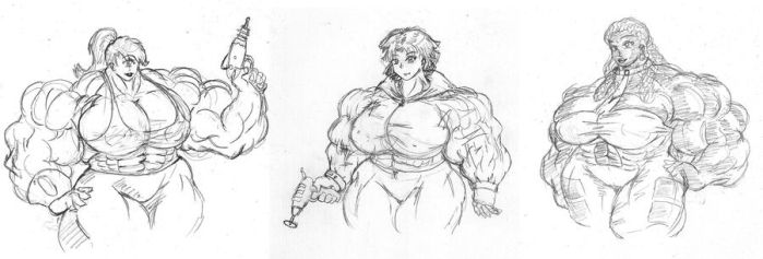 Future Muscle Babes by MightyKnightBR