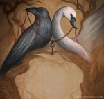 The Raven and the Swan by NatasaIlincic