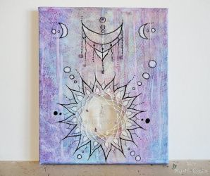 Moon Sun Dreamcatcher Painting by SierDreamS