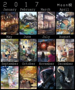 2017 painting summary by MoonlightYUE