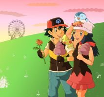 Ash And Dawn Valentines Contest by Rumibelle