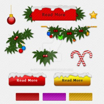 Christmas Web Decoretion Elements PSD Pack by sktdesigns