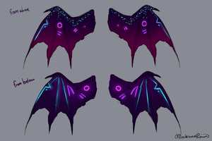 Comm: Wing Reference by MischievousRaven