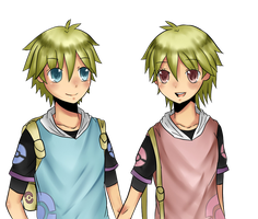 .:Pokemon OCs:. Yuugure and Yoake by youcchi