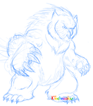 Owl Bear Sketch by KTechnicolour