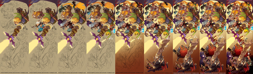 Hyrule Warriors WIP Step By Step by HeavyMetalHanzo