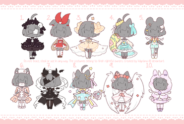 [CLOSED TY!] Costume adopts by Valyriana