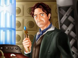 The Eighth Doctor in his TARDIS by HavocGirl