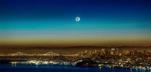 moon rise before the sun by thevictor2225