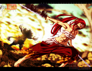 Fairy Tail 404  Coloring  Erza The Beast by DEOHVI