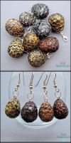 New Items - Dragon Eggs and Jiji Earrings by Bon-AppetEats