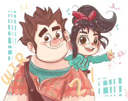 WRECK IT RALPH 2! by chibiirose