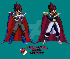 New And Old King Vegeta by omegazeke08013