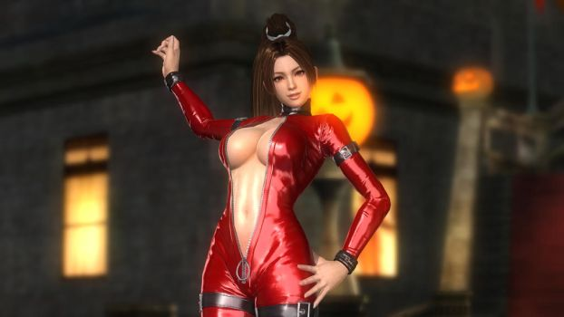 Mai Leather Catsuit Red 034 by DOA5lrScreenShots