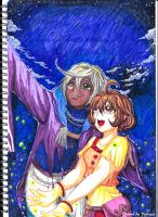 Molly and Gale Star Gazing by Valcristsan