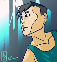 Random Cyan Guy (for lack of a better name) by KealiaLaw