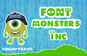 Font Monsters Inc. by iBeHappyRawr