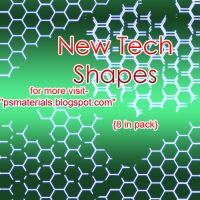 NEW TECH SHAPES FOR PHOTOSHOP by vishalrokez