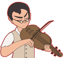 Medic Playing The Violin by PotionLily