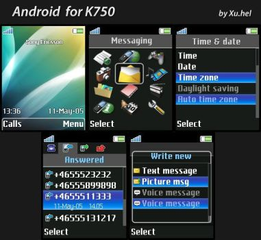 Android for K750 by xuhel