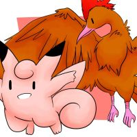 Clefable and Fearow