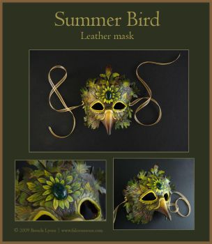 Summer Bird - Leather Mask by windfalcon